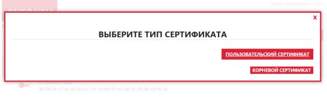 пользовательский типсертификата