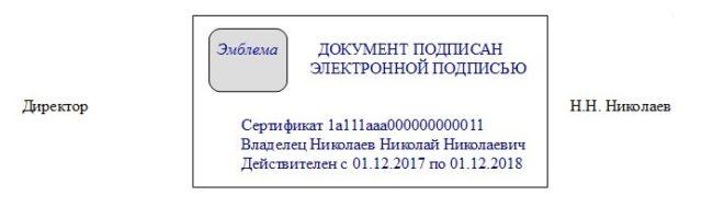 Штамп ЭЦП с эмблемой