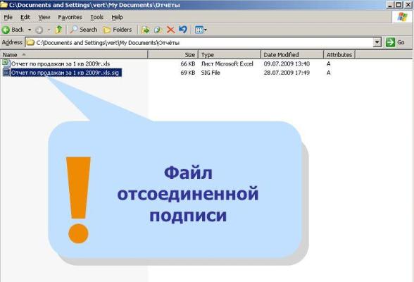 Файл отсоединенной ЭЦП