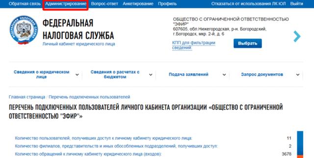 ЛК на сайте налог.ру