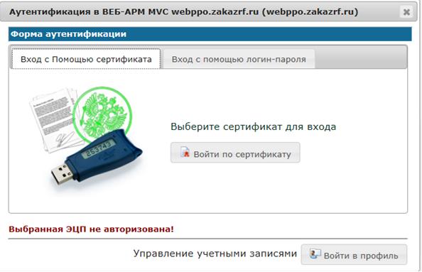 ЭЦП не авторизована